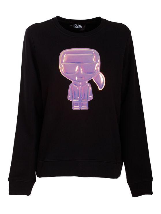 Karl Lagerfeld Ikonik Karl Sweatshirt In Black