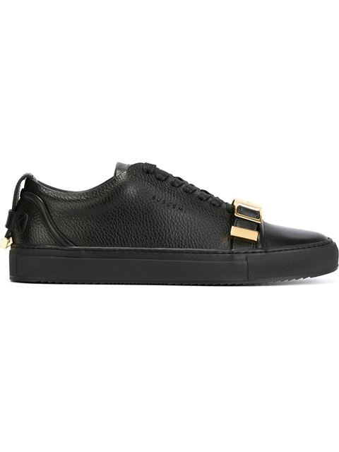 Buscemi Men's 50mm Low-top Sneakers With Strap, Black