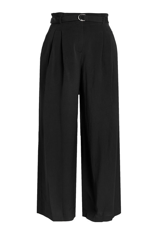 T By Alexander Wang Wide Leg Pants In Black