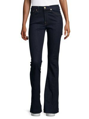 7 For All Mankind Slim-Fit Flared Jeans In True Rinse