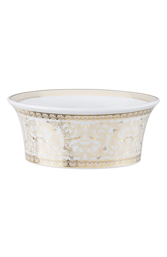 Versace Medusa Gala Cereal Bowl In White / Gold