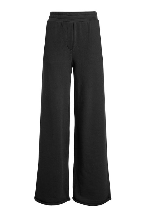 T By Alexander Wang Wide Leg Pants With Cotton In Black
