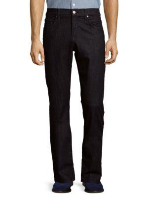 7 For All Mankind The Straight Clean-Pocket Jeans In Deep Indigo