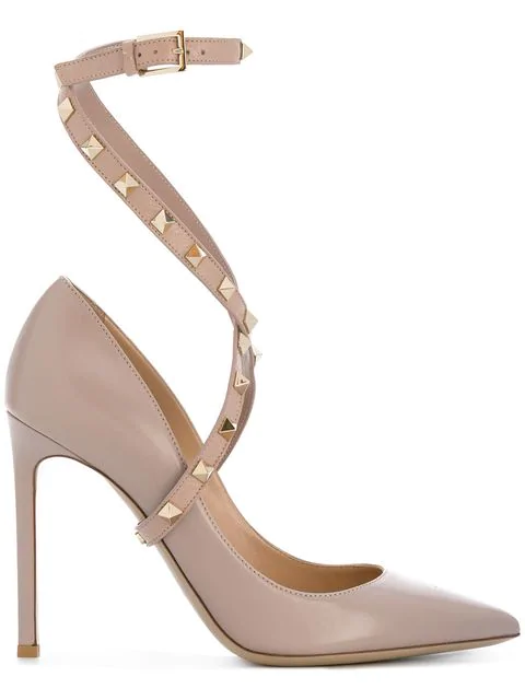 bb569a55dea Valentino Studwrap Leather Pumps In Pink