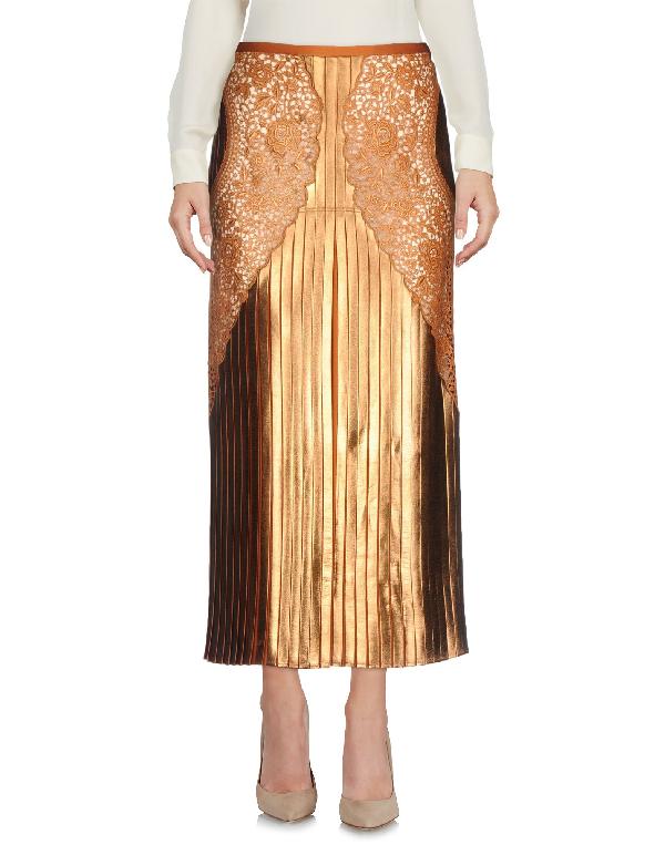 e8d9ba7549 Stella Mccartney Gianna Metallic Pleated Lace-Trim Skirt, Sienna In Brown