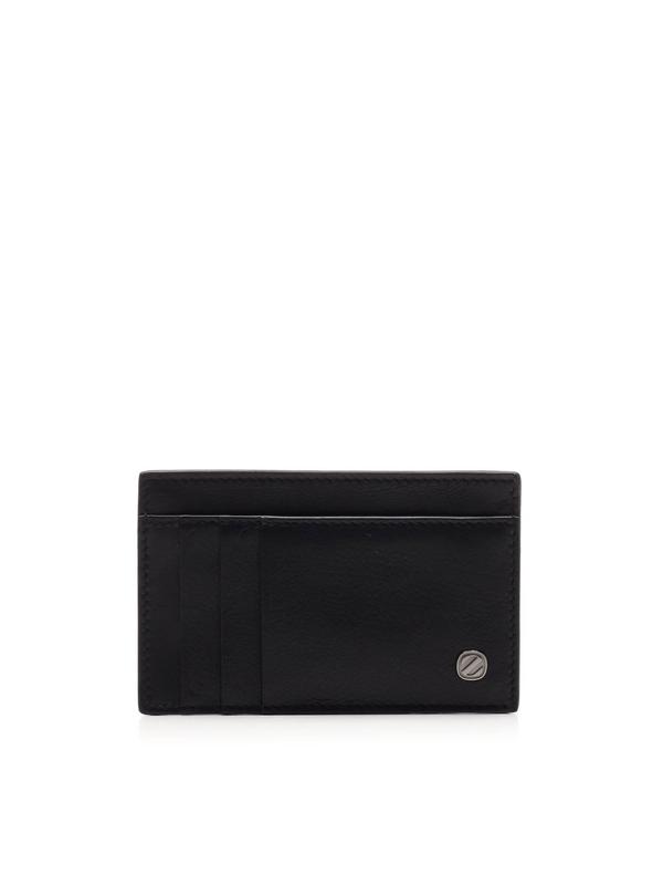 Ermenegildo Zegna Logo Card Holder In Black