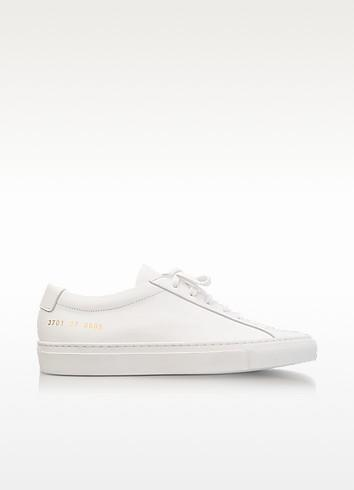 Common Projects White Leather Achilles Original Low Top Women's Sneakers