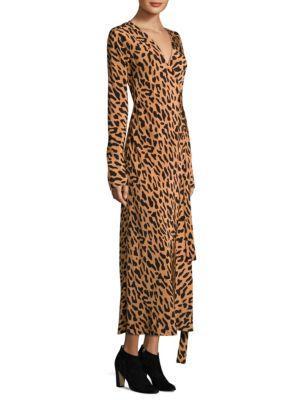 af0cab0549f6 Diane Von Furstenberg Leopard-Print Silk Crepe De Chine Wrap Dress In  Belmont Camel