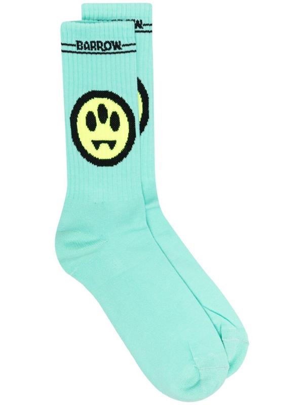 Barrow Logo-print Knitted Socks In Green
