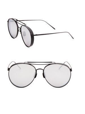 dbea723783 Gentle Monster 60Mm Big Bully Aviator Sunglasses In Black