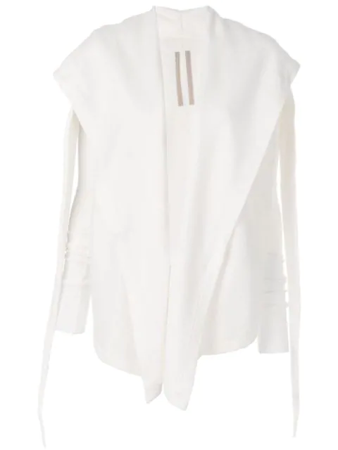 Rick Owens Drkshdw Draped Collar Sweatshirt - White