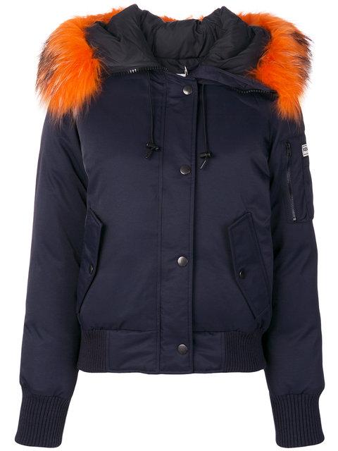 dfce1532285 Kenzo Fur-Trimmed Down Coat In Blue | ModeSens
