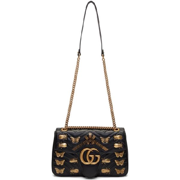 ea34b1bc6 Gucci Medium Gg Marmont 2.0 Animal Stud Matelasse Leather Shoulder Bag -  White In Black
