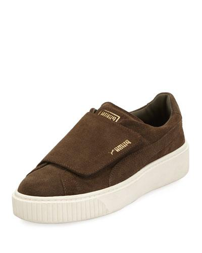 2a58129d0f35 Puma Women S Basket Platform Strap Velvet Rope Casual Sneakers From ...