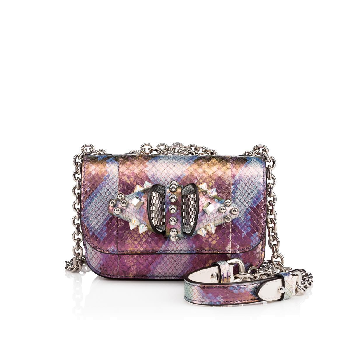 3e64aca37fe Christian Louboutin Sweety Charity Mini Chain Bag Multicolor Snakeskin -  Handbags -