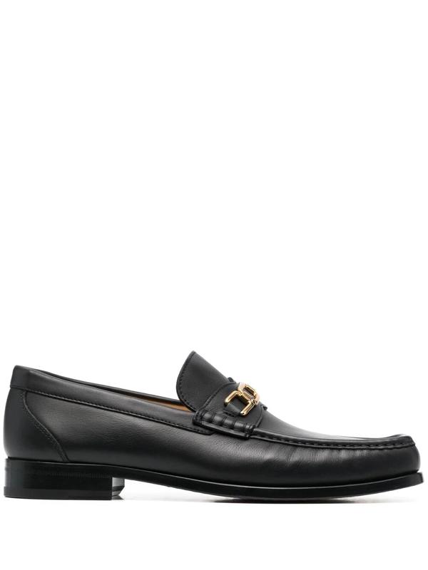 Dorya Coppola Square-toe Loafers In Black