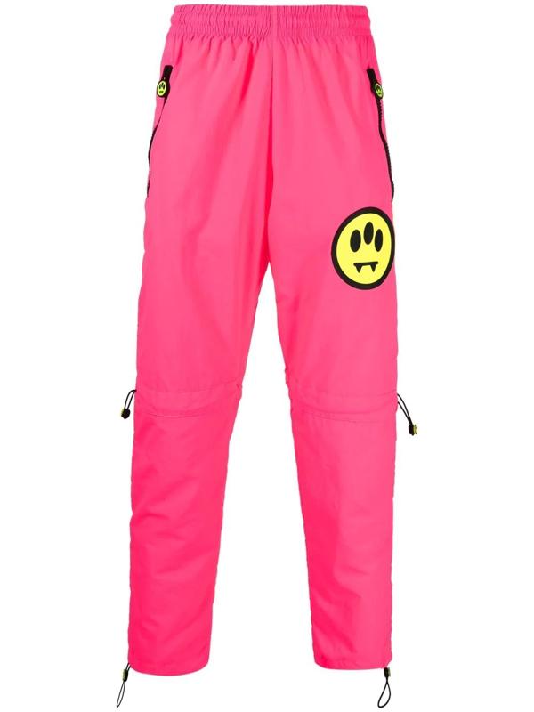 Barrow Logo-embellished Track Pants In Pink