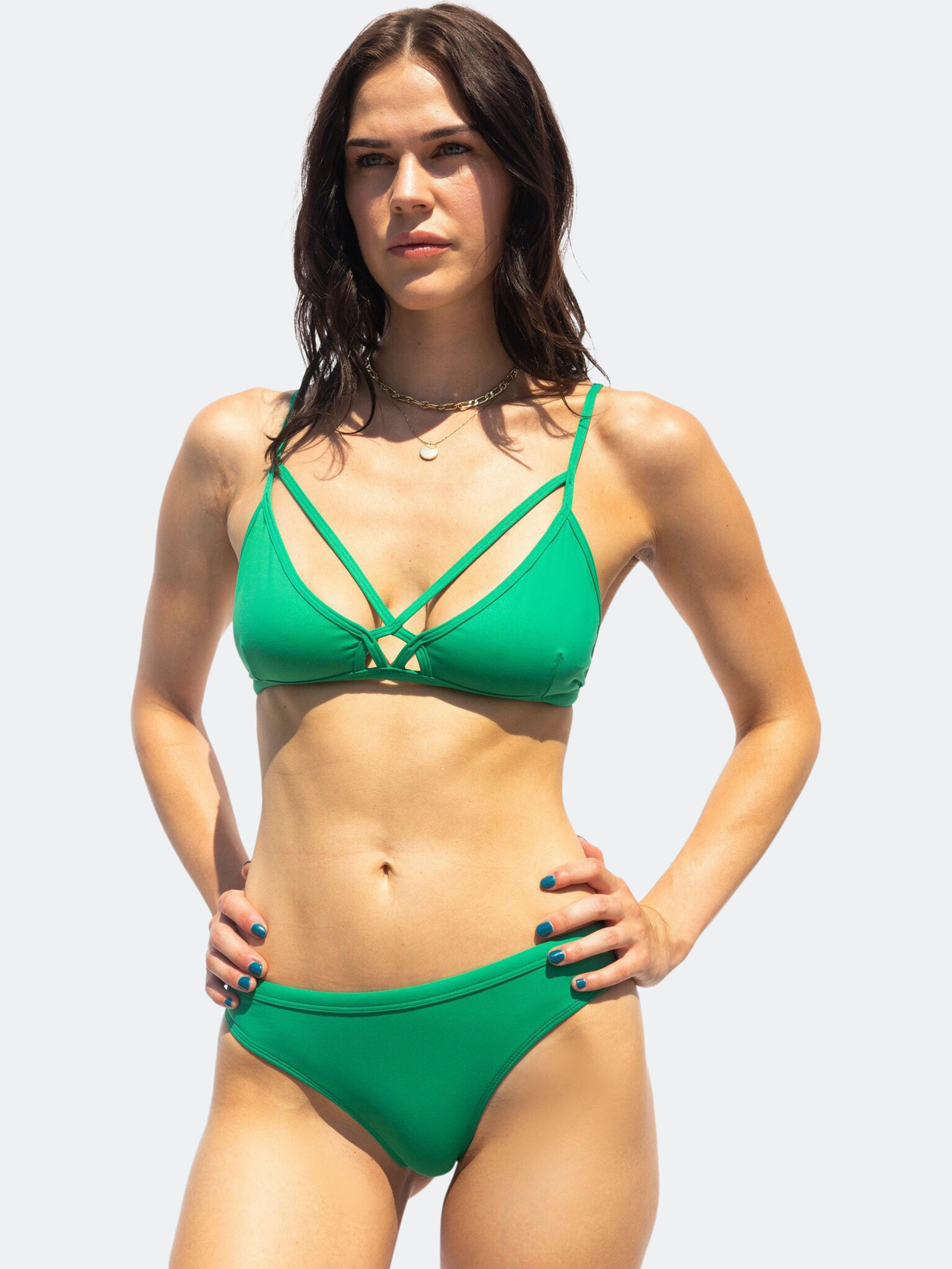 Bezzant Emerald Bikini Bottoms In Green