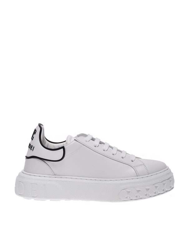 Casadei Off Road Sneakers In White Leather