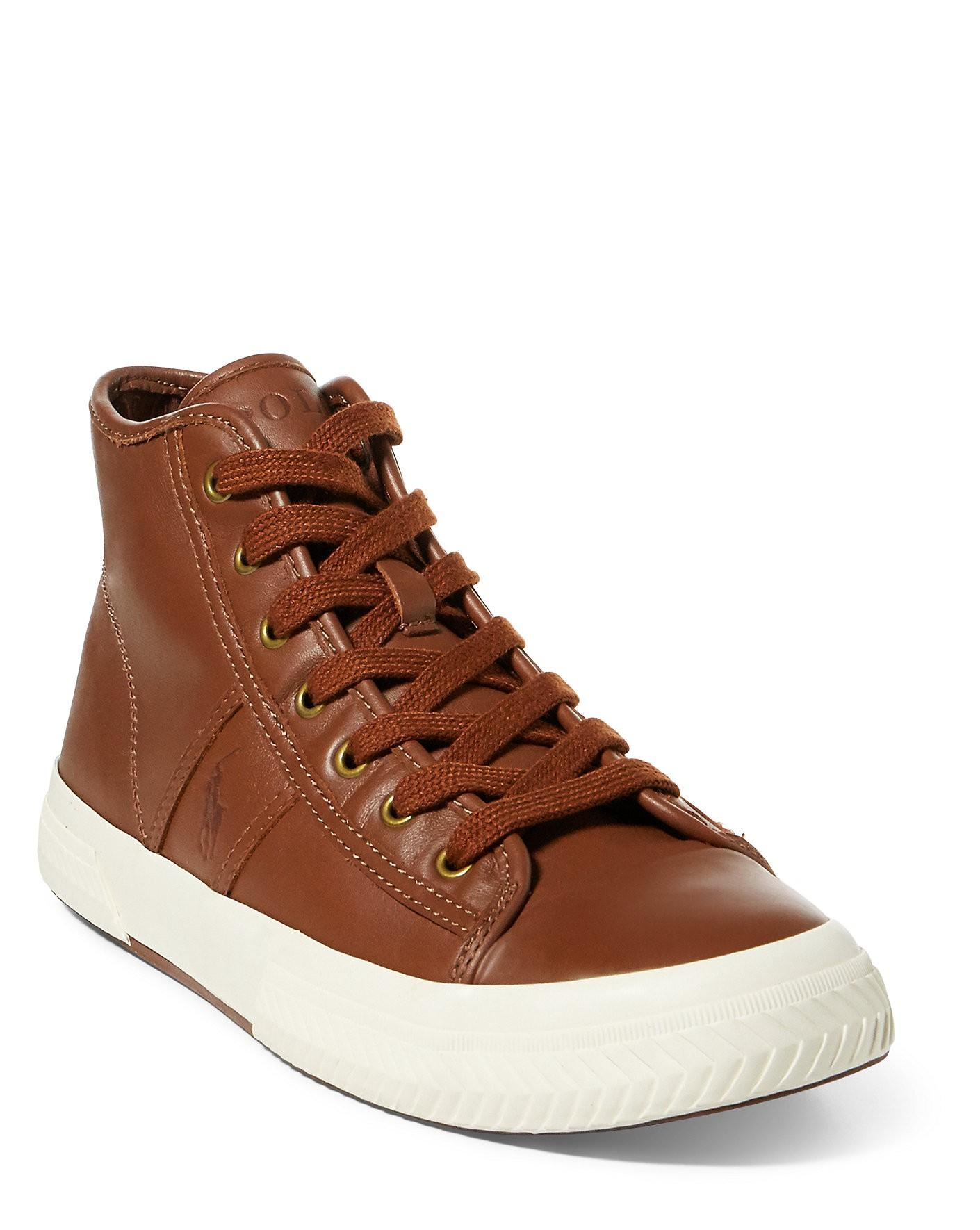 084c7e0c35 Tremayne Nappa Leather Sneaker in Deep Polo Tan