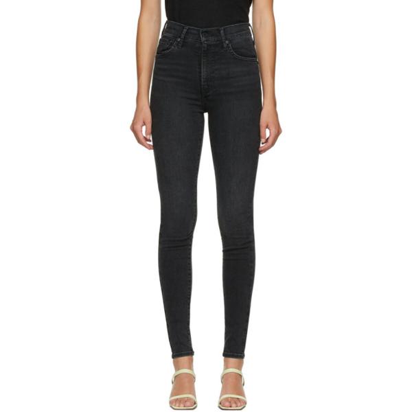 Levi's Mile High Super Skinny Jeans In Black Galaxy In Black Haze