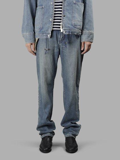 Sacai Men's Light Blue Denim Pants