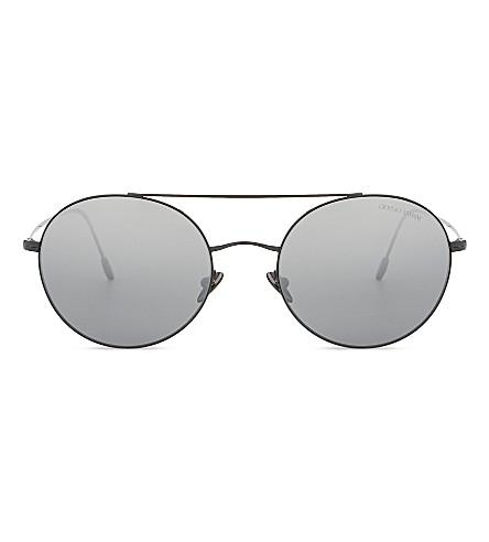 0adc2b9b443 Giorgio Armani Black Ar6050 Round Sunglasses