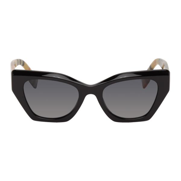 Burberry Women's Polarized Cat Eye Sunglasses, 52mm In 3757t3 Blk