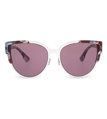 d5bf0e5960af Dior Floral Cat-Eye Sunglasses In Tortoise Pink