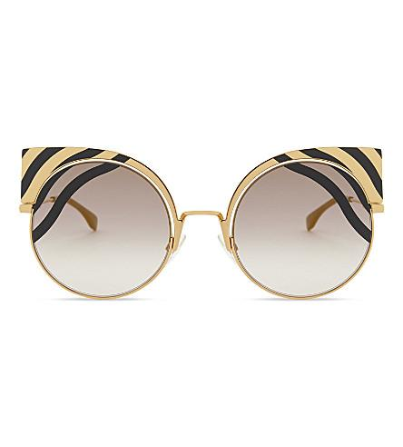 a64aec7920a3 Fendi Ff 0215 S Cat Eye-Frame Sunglasses In Gold Black