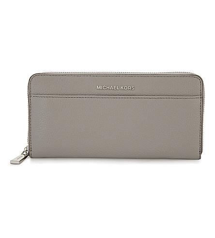 Michael Michael Kors Mercer Leather Purse In Pearl Grey