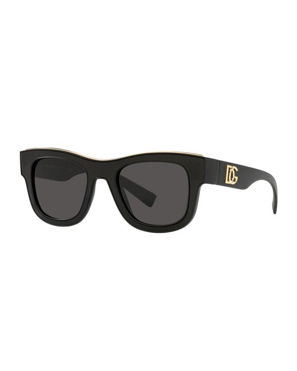 Dolce & Gabbana Square Acetate Sunglasses In Maatte Blk
