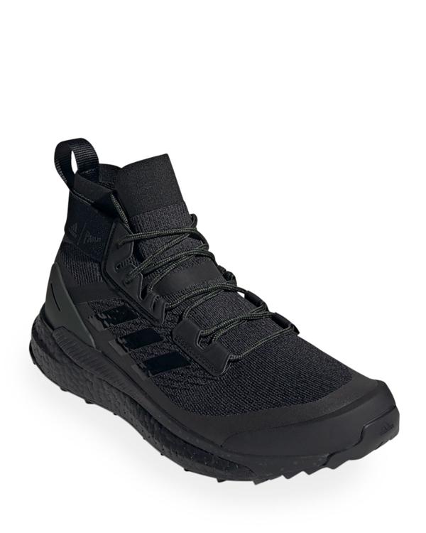 Adidas X Parley Men's Terrex Free Hiker Tonal Mid-top Sneakers, Black
