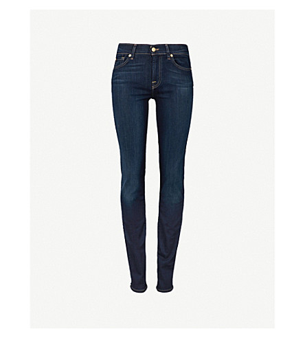 7 For All Mankind Roxanne Skinny Mid-Rise Jeans In Bairinind
