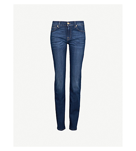7 For All Mankind Roxanne Skinny Mid-Rise Jeans In Bairduchess