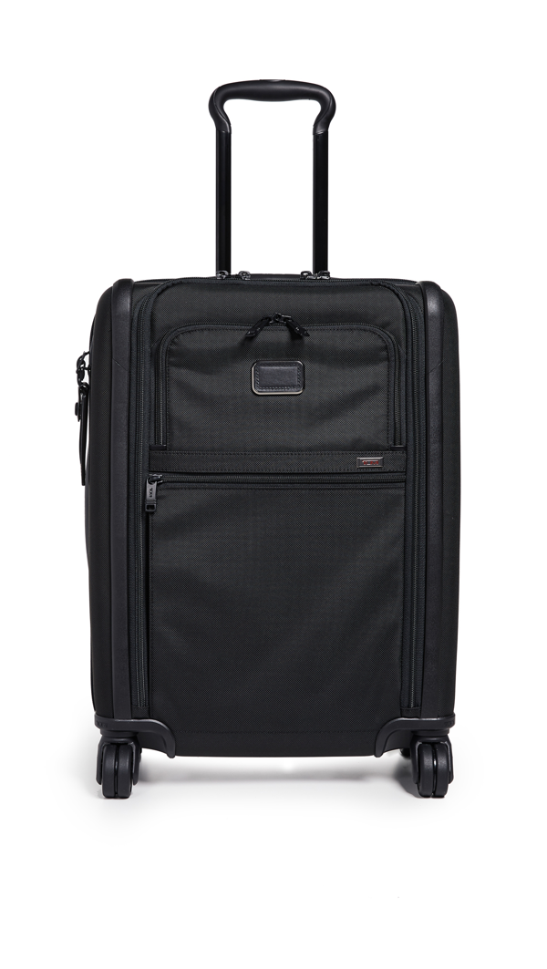 Tumi Alpha Continental Dual Access 4 Wheel Carry On Suitcase In Black