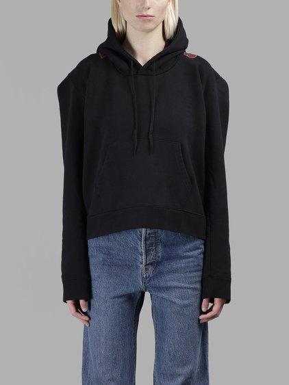 Vetements Oversized Hoodie With Pocket In Black + Print