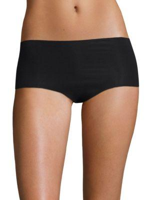 Hanro Invisible Cotton Hi-Cut Brief In Black019