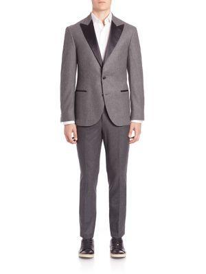 Brunello Cucinelli Wool-Silk Blend Suit In Anthracite