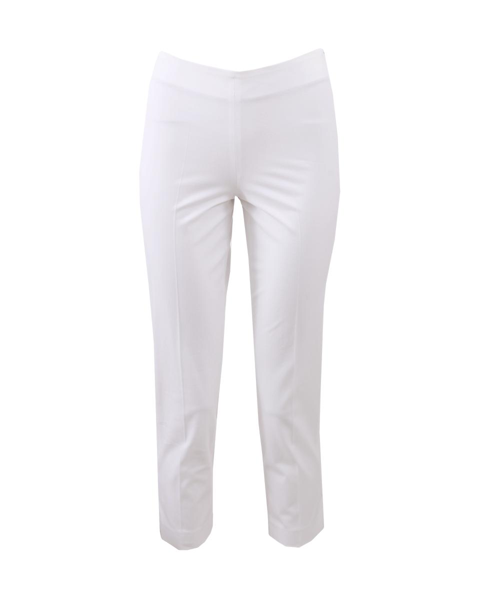 Brunello Cucinelli Cotton Side Zip Pant In White