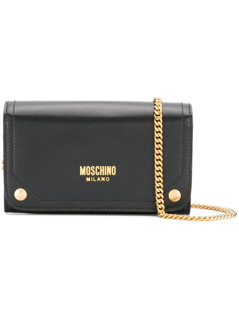Moschino Printed Logo Clutch Bag In 3055