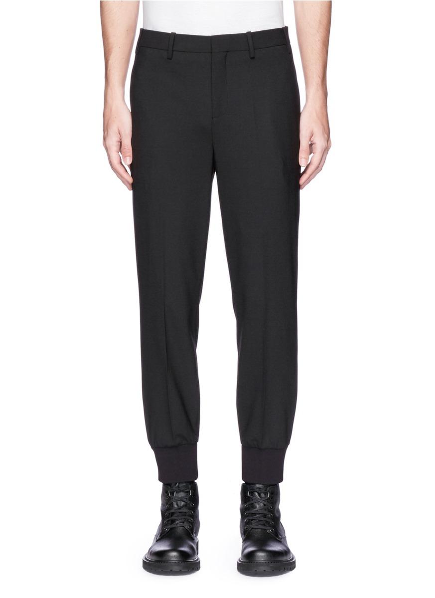 Neil Barrett Paisley Print Outseam Slim Fit Jogging Pants