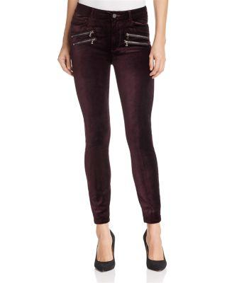 Paige High Rise Edgemont Skinny Velvet Jeans In Black Cherry - 100% Exclusive In Black Cherry Velvet
