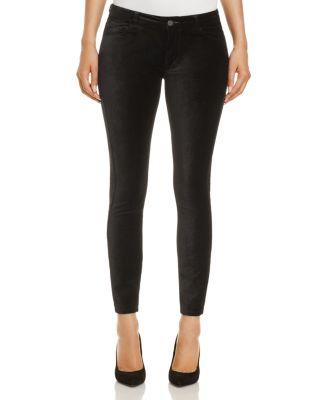 Paige Verdugo Ankle Velvet Jeans In Black Overdye