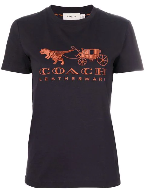 Coach Rexy And Carriage AppliquÉ T-Shirt In Black