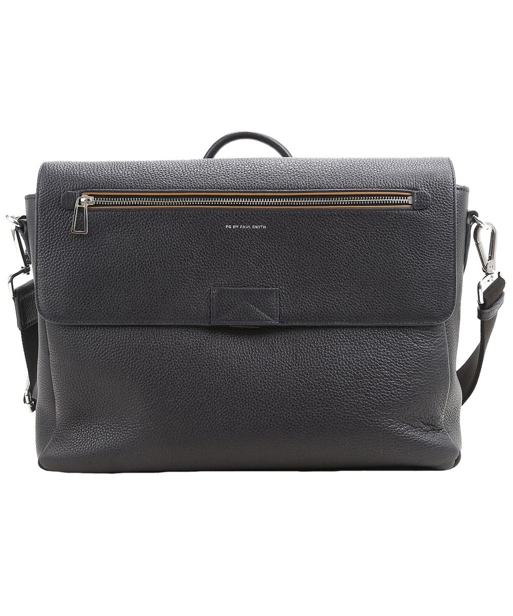 Paul Smith Men's  Blue Leather Messenger Bag