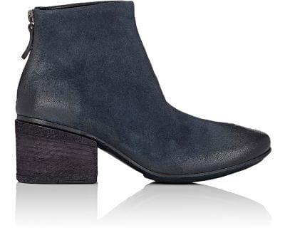 MarsÈLl Burnished Suede Ankle Boots - Navy
