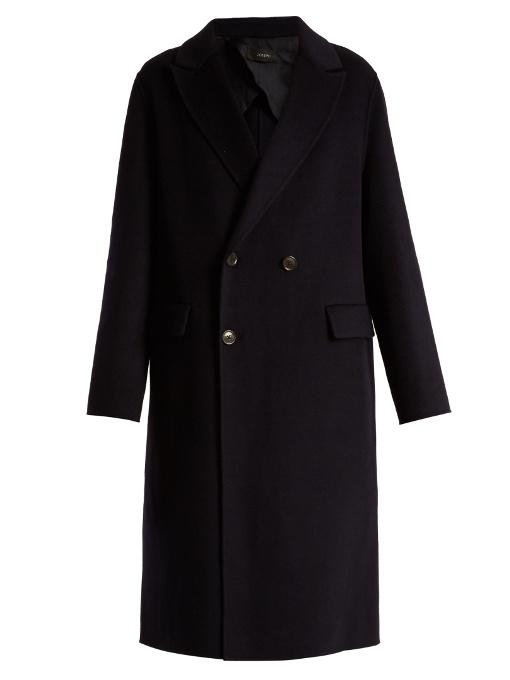 Joseph Kino Double-faced Cashmere Coat In Navy