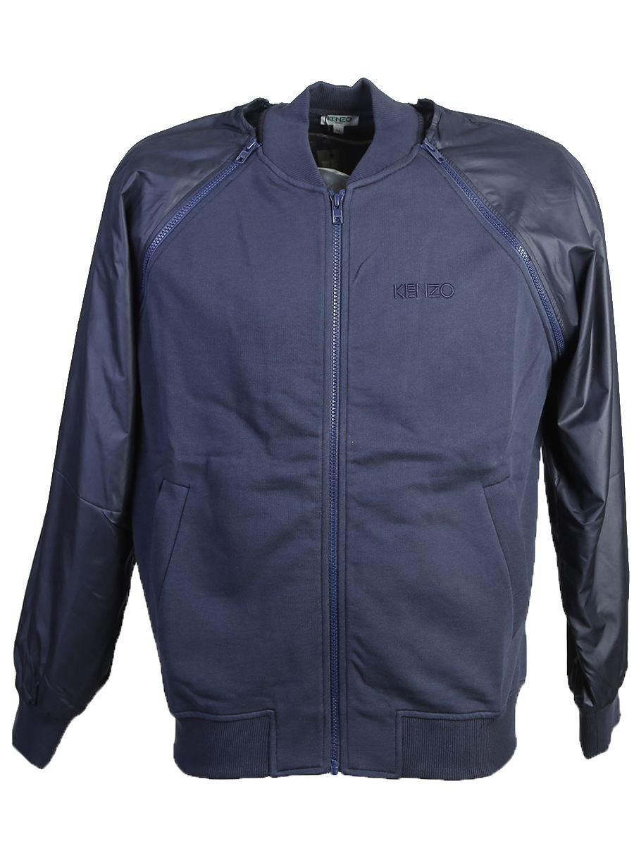 Kenzo Cotton And Nylon Bomber Jacket In Blue