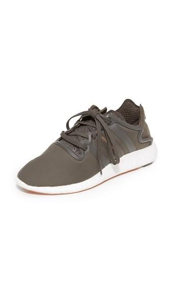 Y-3 Yohji Run Sneakers In Black Olive/white